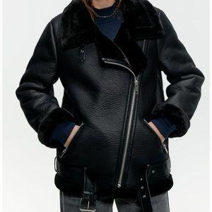 Zara Double-Faced Biker Jacket (size XS)
